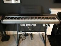 Casio Privia PX 100 Electric Piano, Stand and Travel Case For Sale