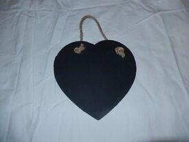Slate Heart / Chalk board: Large: Valentine's Day