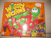 WIGGLY WORMS GAME - FABULOUS CONDITION! And ALPHABET TRAIN PUZZLE + instructions IMMACULATE!