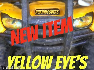 Honda Rancher TRX 420 Yellow EYE'S Headlight Cover's  RUKINDCOVERS UTV ATV MX