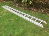 Double 14 foot Trade Aluminium Ladder