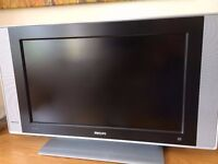 LCD TV with DVD and VHS Player combo