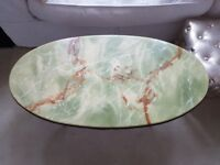 Marble coffee table.