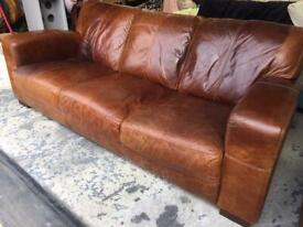 DFS Real leather DFS sofa