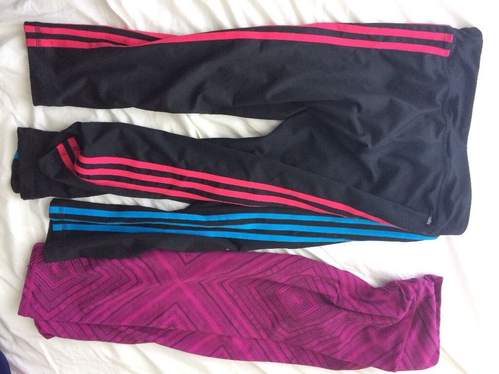 Sport leggingsin Cheltenham, GloucestershireGumtree - Bundle of sports leggings Size 10 /small Brands Adidas, Fabletics, Ron hill £15 29 from new Bargain at £15 for all