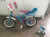 Girls 14inch Apollo Pom Pom Bike, ex Halfords good condition