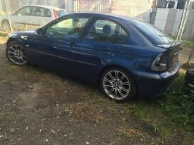 BMW 3 series e46 compact blue breaking for parts / spares