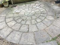 York Flagstone Style Paving Circle kit used good condition