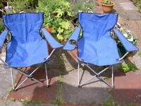 FOR SALE, PAIR OF GARDEN/CAMPING CHAIRS