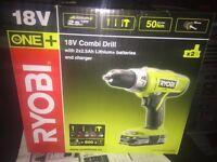 Ryobi + One 18v drill * brand New