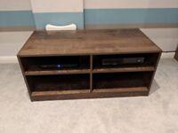 Walnut wood effect TV stand
