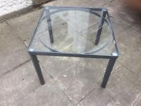 Metal and glass Ikea coffee table