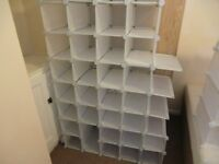 KINGS LYNN- INTERLOCKING, SPACE SAVING MODULAR STORAGE ORGANISER FOR SHOES/TOYS/CLOTHES ETC