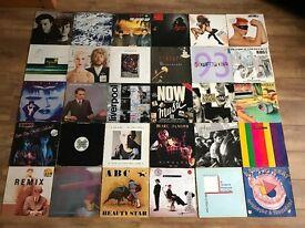 "JOBLOT 80 VINYL ALBUMS & 12"" SINGLES - NEW WAVE / INDIE / SYNTH POP / NEW ROMANTIC"