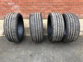 X4 Pirelli Pzero 225 35 19 tyres