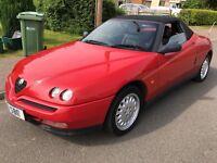Alfa Romeo Spider T Spark 16V 1970cc Petrol 5 speed manual 2 door convertible R reg 18/03/1998 Red