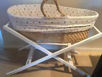 X 2 Moses baskets- one John Lewis, one mothercare
