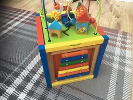 Wooden Activity Play and Learn Center