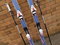 Skis, bindings and poles.