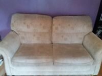 Large 2 seater sofa and arm chair, tv stand, coffee table and 2 dvd stands