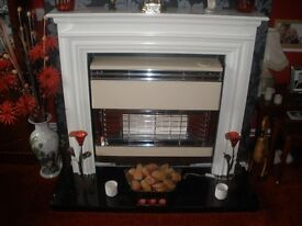 fire surround and marble harth