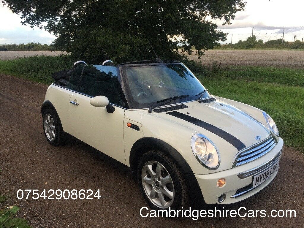 2008 MINI CONVERTIBLE 1.6 COOPER 2DR WHITE - FULL HISTORY ** PRICE DROP **