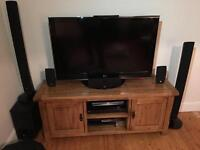 LG surround sound system with 5 speakers and subwoofer