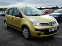 2007 nissan note 1.4 petrol with only 76000 miles, motd oct 2019 full history