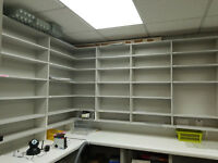 Retail Shelves and staff lockers for Sale due to shop being put up for sale
