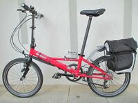 Custom Built Dahon TR (24 Speed) Folding Bike, Bag Plus Extras