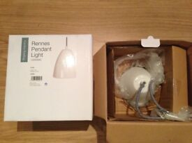 2 x New boxed Garden Trading Rennes Pendant ceramic lights (price is for both 2 lights)