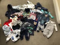 Bundle of baby boy clothes 0-6 months