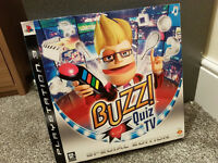 Buzz Quiz TV - Special Edition Game For PS3 - inc 4 Buzz Controllers !