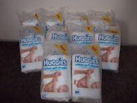Ten packs of Huggies cotton wool sheets