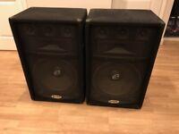 Gemini GSM-1550 PA speakers x2
