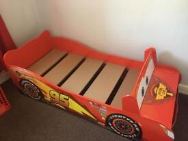 Disney cars wooden bed