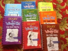 8 x Diary of a Wimpy Kid Books