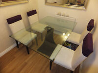 Glass Top Table 6 (six) Seat Designer