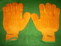 ORANGE WOOLLEN GRIPPER WORK GLOVES
