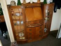 STUNNING ART DECO COMBI DISPLAY UNIT BUREAU WITH LIGHTING.REDUCED BY £30