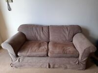 Two free brown fabric sofas