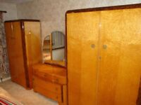 For sale Vintage 1960's Austinsuite wardrobes, dressing table and headboard.