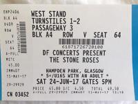 The Stone Roses - Glasgow, Hampden Park 2017 (Pair of Tickets £110 (what I paid)