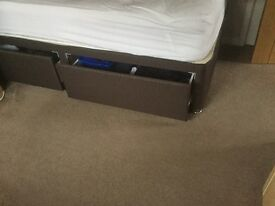 Single 2 drawer Divan Bed with matching headboard