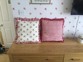 Laura Ashley material cushions