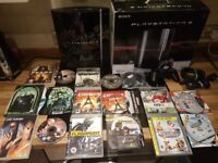 Boxed Black Sony Playstation 3 Console With Controller & Bundle Of Games Free Online Play PS3