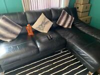 Right hand facing Italian leather corner sofa.