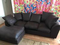 New sofa from Argos left hand corner