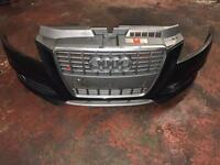 AUDI S3 2011 COMPLETE FRONT BUMPER WITH GRILLS AND FOG LIGHTS