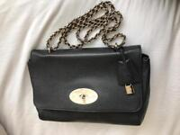 Mulberry medium lily in black with soft gold hardware